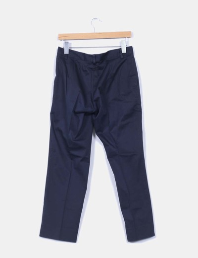 Pantalon azul marino de pinzas