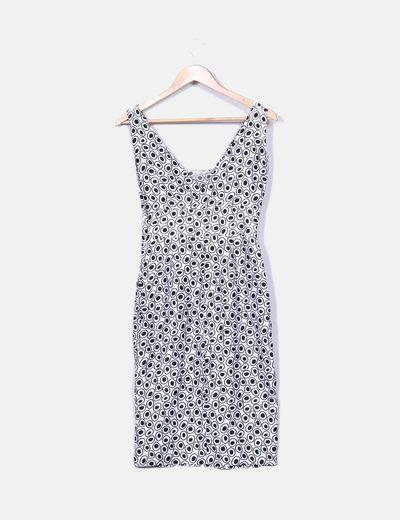 100% originales venta directa de fábrica nuevo producto Vestido estampado blanco y negro