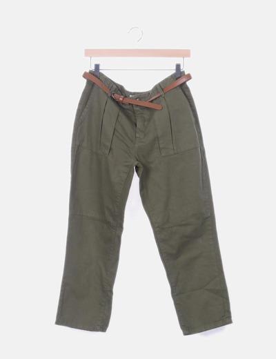 Pantalón byfriend verde
