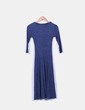 Maxi vestido azul marino canalé NoName