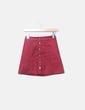Mini falda de antelina granate abotonada H&M