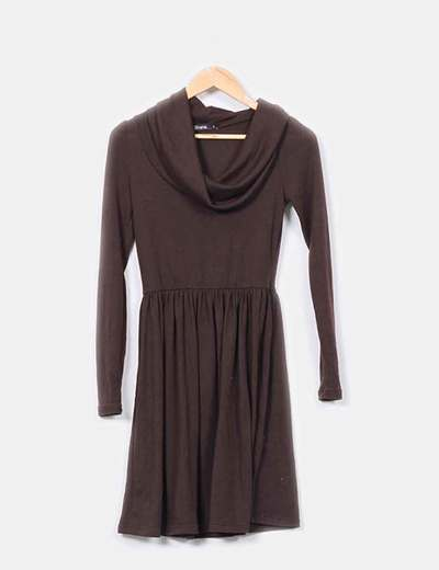 Vestido punto marron chocolate