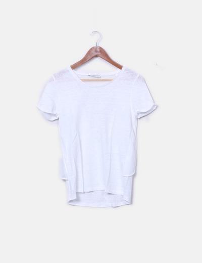 Camiseta blanca detalle gasa
