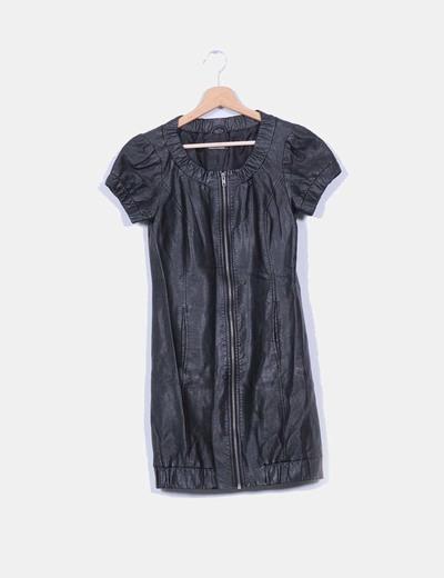 Vestido negro manga corta ONLY