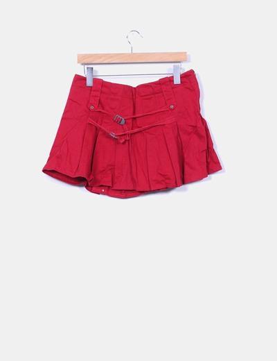 Mini falda roja tablas