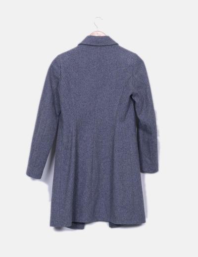 Abrigo largo pano gris