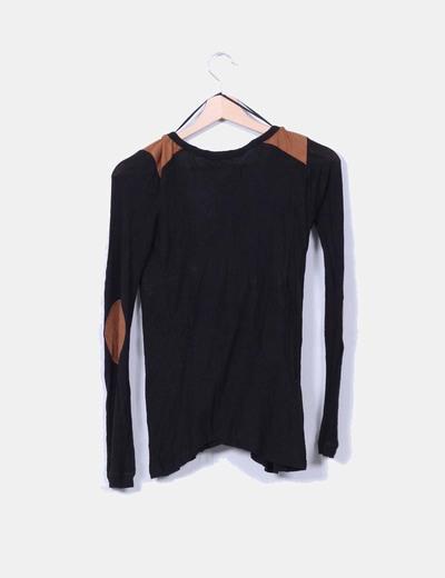 Top tricot negro coderas antelina