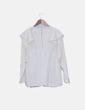Blusa de gasa cruda manga larga H&M
