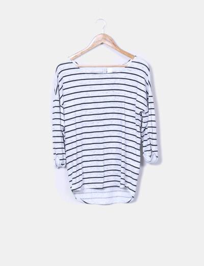 Camiseta jaspeada a rayas H&M
