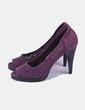 Zapato tacón texturizado morado Zara