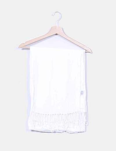 Foulard blanco con flecos NoName
