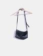 Mini bolso negro de piel Hakei