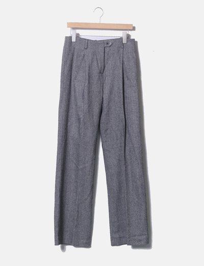 Pantalón chino campana gris