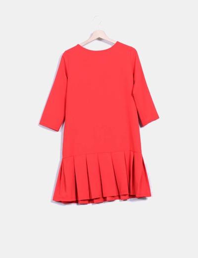 Vestido rojo con tablas Fernando tapia
