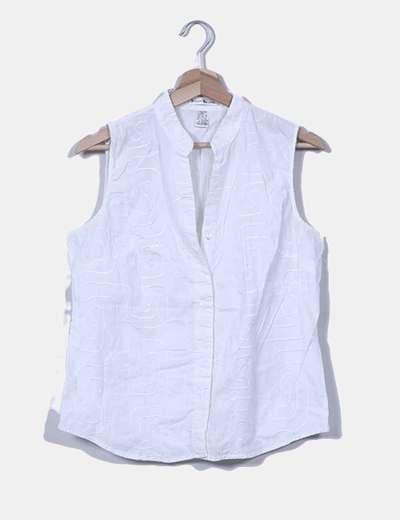 Blusa blanca texturizada Susan Bristol