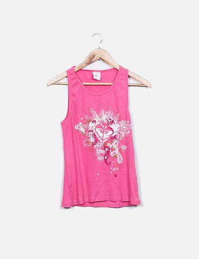 Top rosa canale print