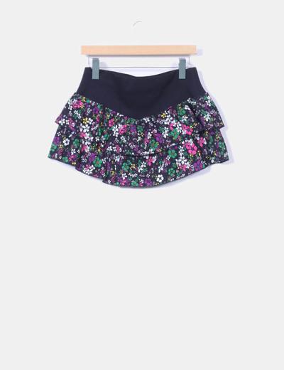 Mini falda volantes floral