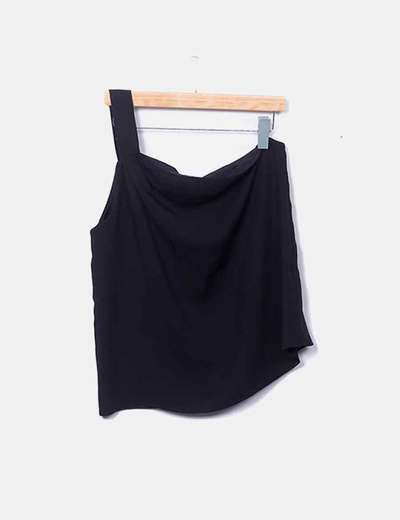 Blusa asimétrica negro
