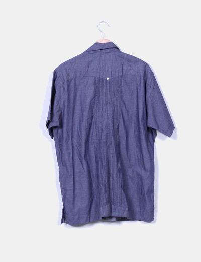 Camisa denim oscura manga corta