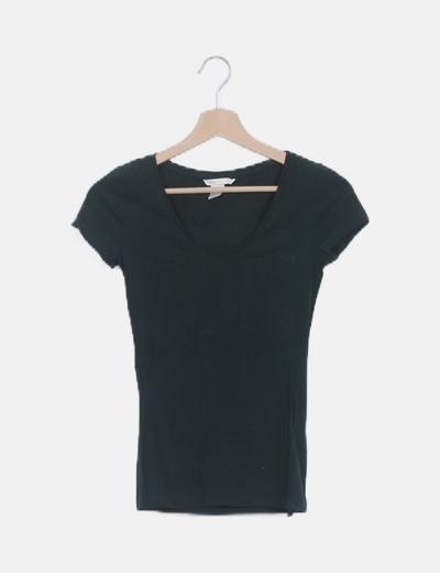 Camiseta verde básica manga corta