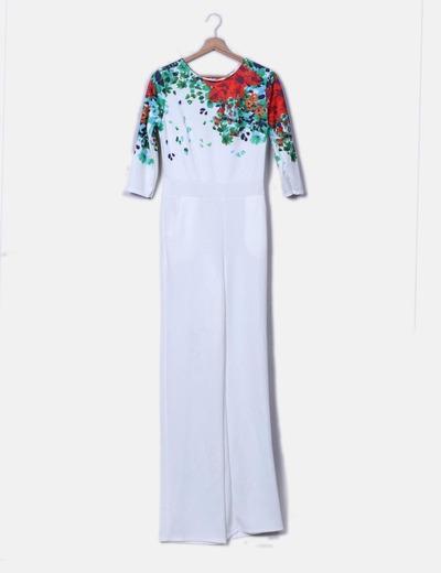 Combinaison blanche imprimé floral NoName