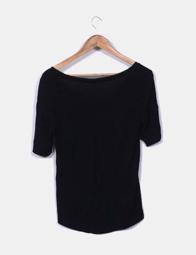 Camiseta negra basica oversize