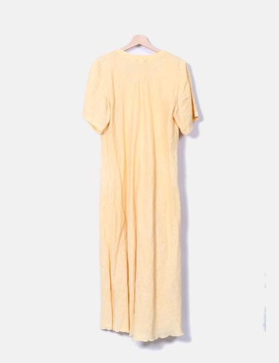 Maxi vestido de lino amarillo
