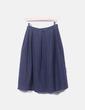 Falda tricot azul espiga Ines de la Fressange