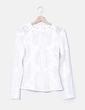 Top encaje blanco bordado H&M