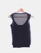 Top negro doble capa Zara
