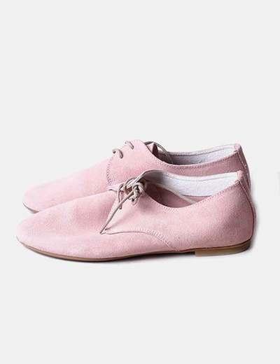 Zapato rosa palo acordonado NoName