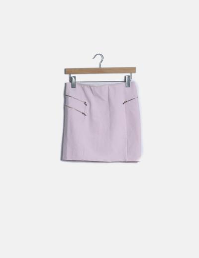 Mini falda rosa baby cremalleras