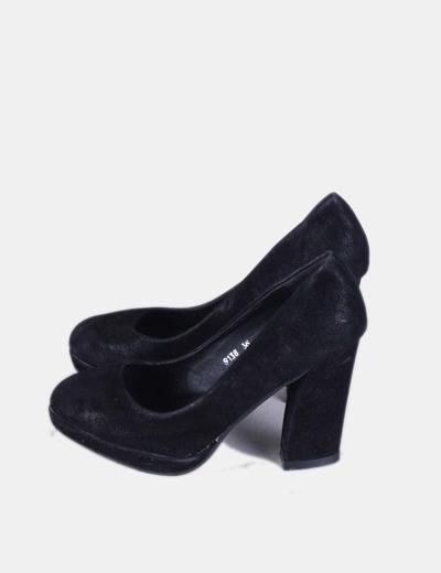 Zapato negro de antelina Zapacasa
