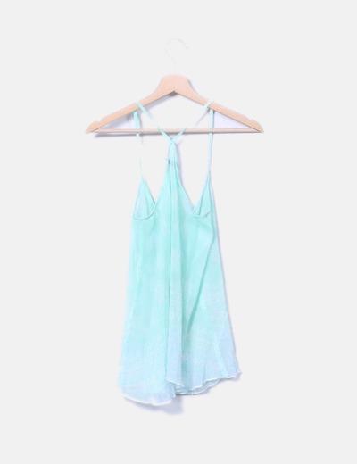 Blusa semitransparente verde