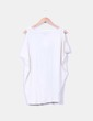 Camiseta beige estampada Bershka