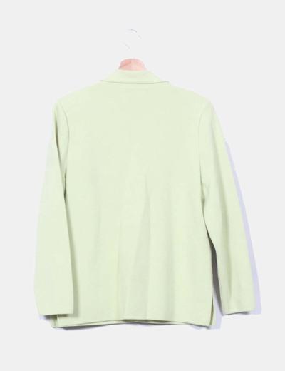 Chaqueta de lana verde pistacho
