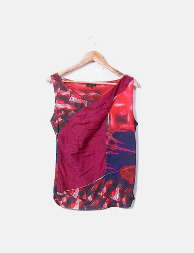 Blusa combinada multicolor Adolfo Dominguez