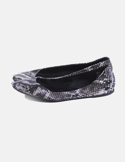 Bailarina print serpiente gris H&M