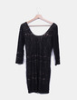 Vestido crochet negro H&M