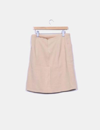 45624b7f0 Falda de tubo color crema