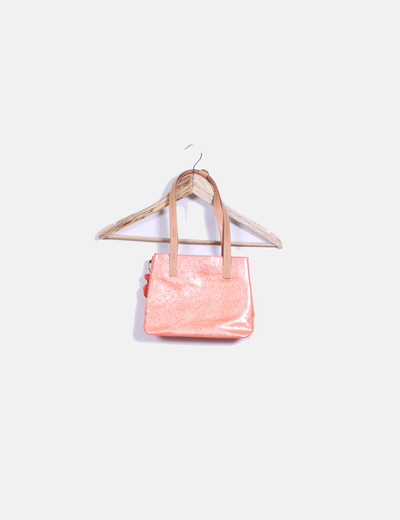 Bolso double handle naranja