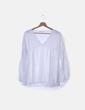 Blusa blanca con encaje Made in Italy