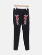 Jegging black embroidered roses NoName
