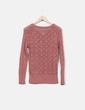 Suéter de punto rosa Bershka