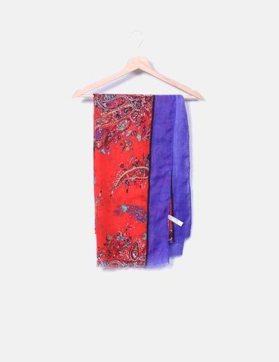 Chattawak Écharpe rouge à fleurs (réduction 41%) - Micolet 8f78cf6f330