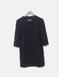 Straight black dress detail zippers Zara