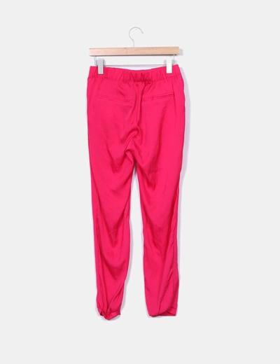 Vestido baggy saten rosa