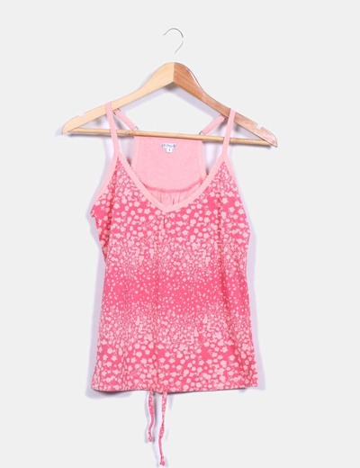Top rosa floral Roxy