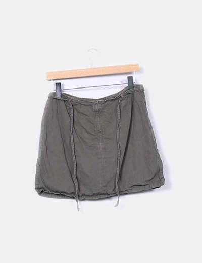 Falda pantalon khaki