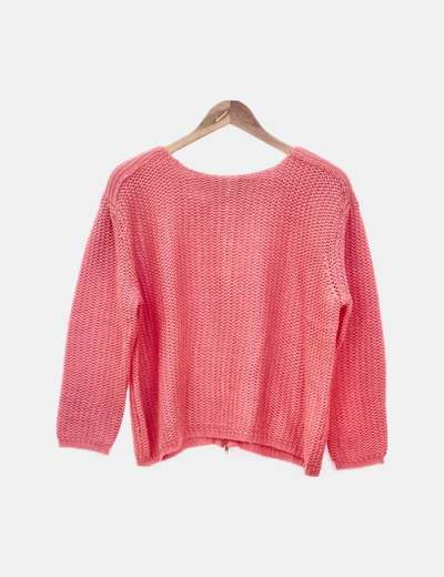Jersey tricot coral cropped